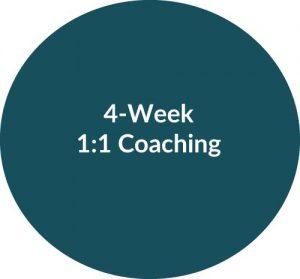 4-week 1:1 Coaching with Melissa Wolak, MS