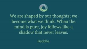 "Melissa Wolak, Intentions - ""We are shaped by our thoughts; we become what we think. When the mind is pure, joy follows like a shadow that never leaves."" Budda - from Melissa Wolak, MS"